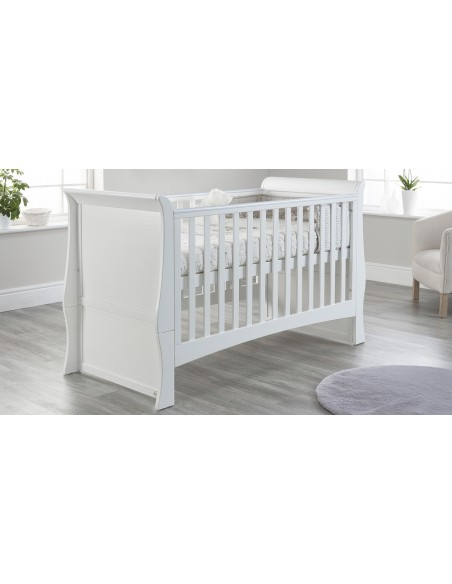 Lillian Cot Bed in White colour Higher mattress position with no drawer