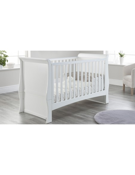 Lillian Cot Bed in White colour with no drawer