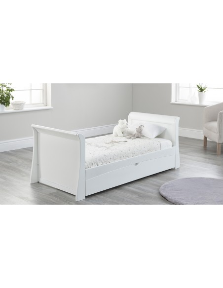 Lillian Toddler Bed in White colour with drawer