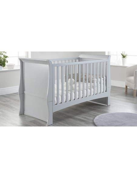 Lillian Sleigh Cot Bed in Grey colour with no Drawer