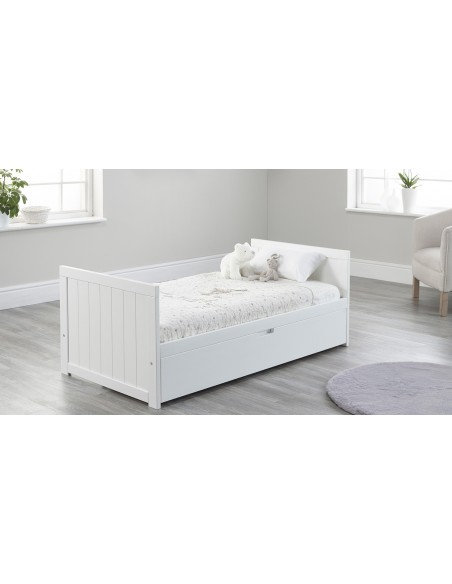 Jo Modern Toddler Bed in White colour with Drawer