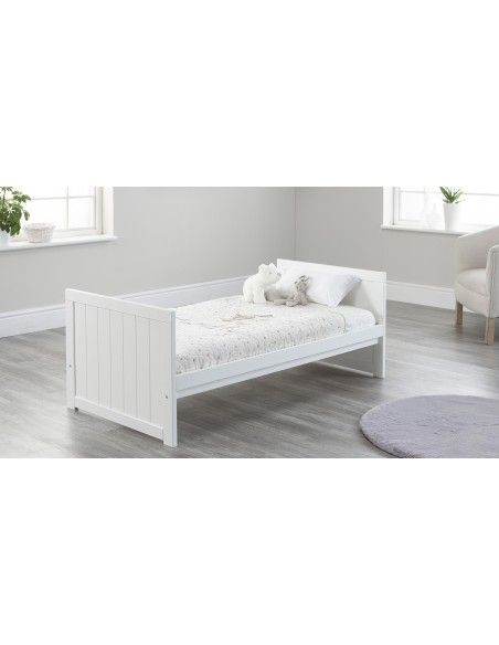 Jo Modern Toddler Bed in White colour with no Drawer