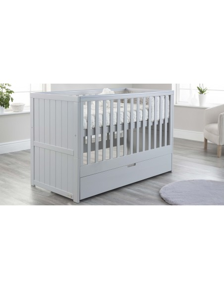 Jo Modern Cot Bed in Grey colour with Drawer upper Mattress level