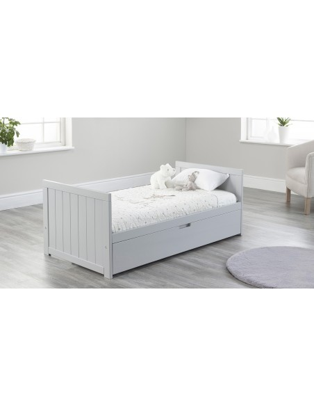 Jo Modern Toddler Bed in Grey colour with Drawer