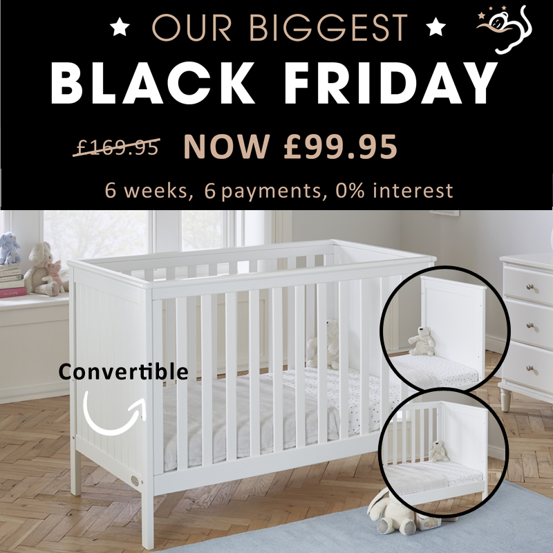 Baby Snooze Molly space saver cot bed