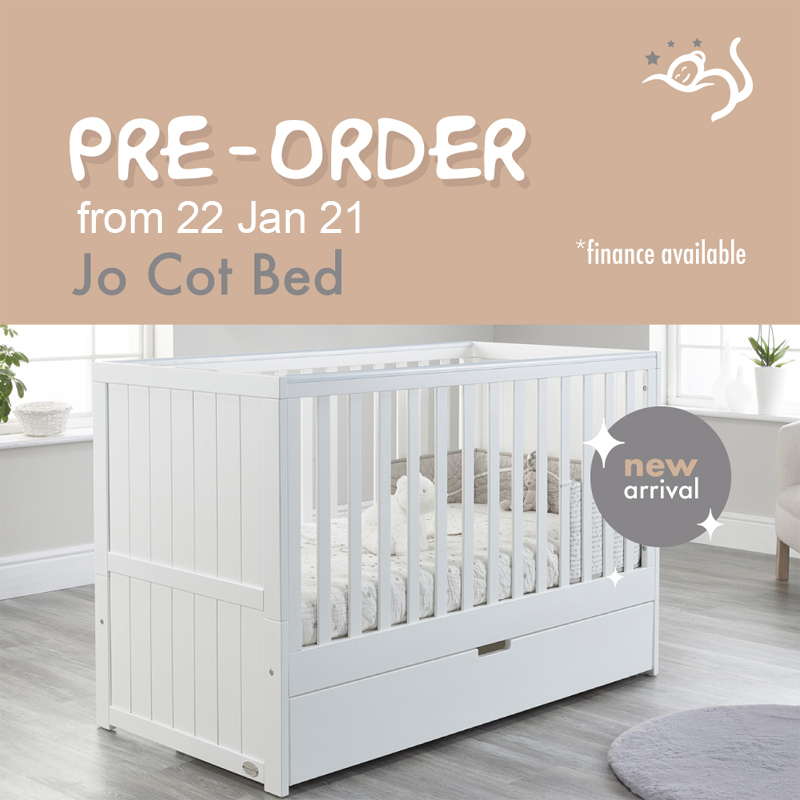 Baby Snooze Lillian space saver cot bed